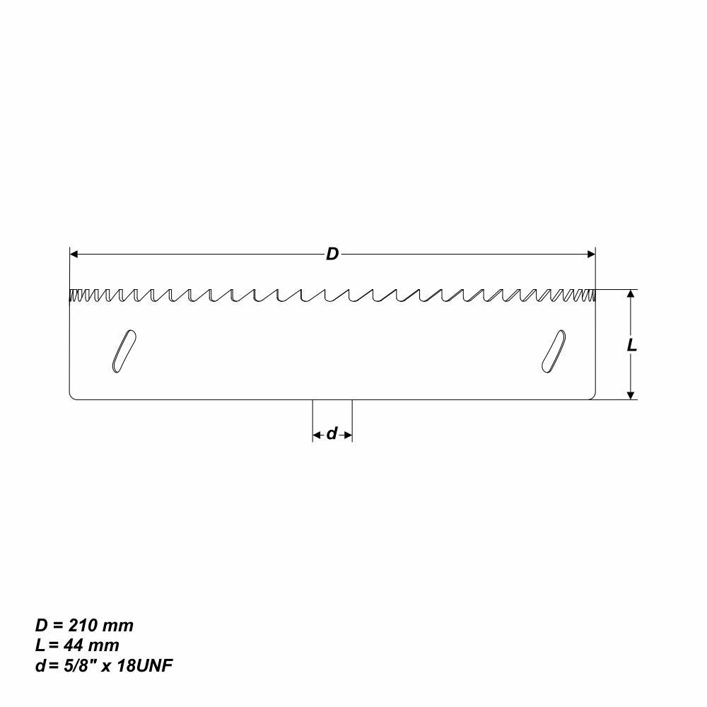 """5//8/"""" x 18 UNF Bi-Metall Lochsäge Ø 210 mm mit Gewinde"""