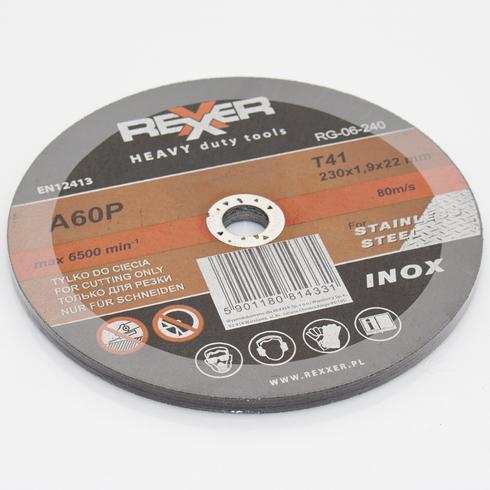 10 x inox 230 x 22 2 x 1 9 mm trennscheibe stahl edelstahl metall ebay. Black Bedroom Furniture Sets. Home Design Ideas